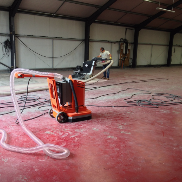 concrete paint removal machine
